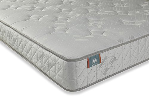 BEDZONLINE ZEUS ORTHOPEDIC DAMASK WHITE MATTRESS SINGLE
