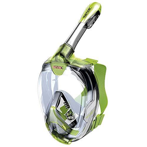 Seac Magica Junior, máscara integral para el Snorkeling 6+, probada y patentada, unisex para niños, Unisex niños, 1700012030426A, verde lima, 6+