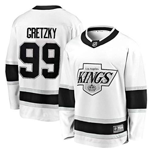 GLZTY Eishockey Trikots Kings # 11 Kopitar # 99 Gretzky # 32 Jersey Atmungsaktive Sweatshirts Langarm T-Shirt S-XXXL