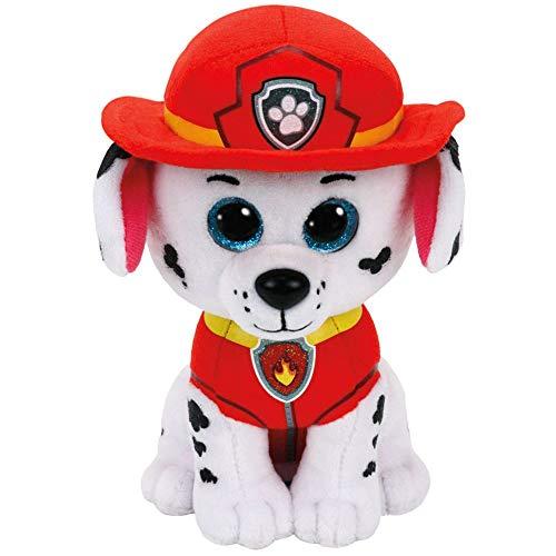 PAW PATROL Selección Figuras de Peluche con Ojos Brillantes | 24 cm | Patrulla Canina, Figura:Marshall