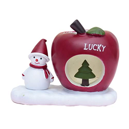 LIOOBO porta penne natalizie figurine pupazzo di neve contenitore di penna matita pentola cancelleria scrivania organizzatore per ufficio scolastico regalo di natale