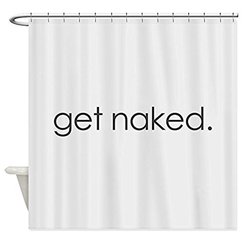 Get naked Duschvorhang mit Haken (wasserdicht), 183 x 183 cm, Weiß