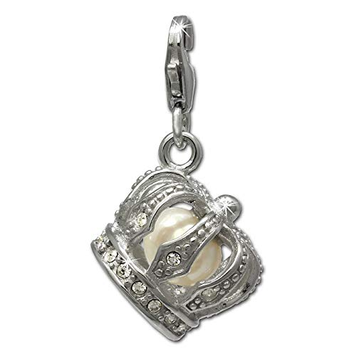Halskette mit Anhänger Kreuz Strass Bling bling Zirkonia silber Geschenk SaWi