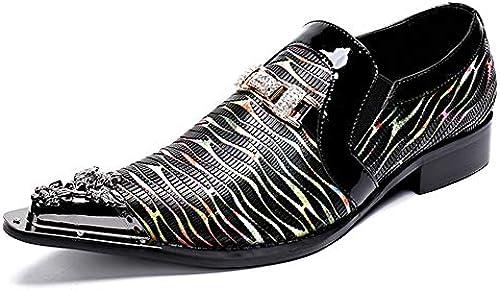 MYXUA Herren Slipper Mode Business Casual Lederschuhe Lederschuhe Lederschuhe  allgemeine hohe Qualität