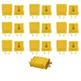 Yowoo 10 Pairs Amass XT30U (XT30 Upgrade) Male Female Bullet Connectors Power Plugs for RC FPV Lipo Battery Quadcopter