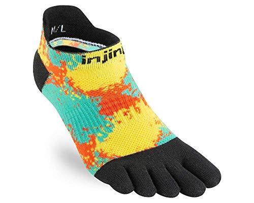 Injinji Run Lightweight No Show Toe Socks Decode Spectrum Ladies Size : 40.5-44.5