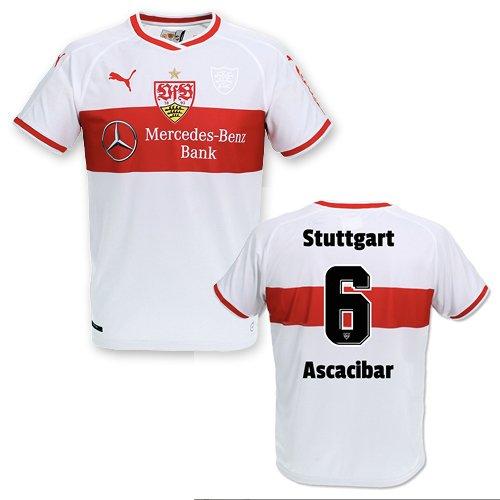 Puma VFB Stuttgart Heimtrikot Kinder Saison 2018/19, Größe:152, Spielername:6 Ascacibar