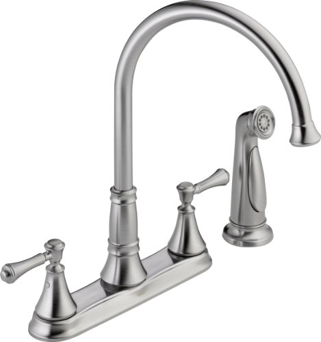 Delta Faucet 2497LF-AR, 8.34 x 10.41 x 8.34 inches, Arctic Stainless