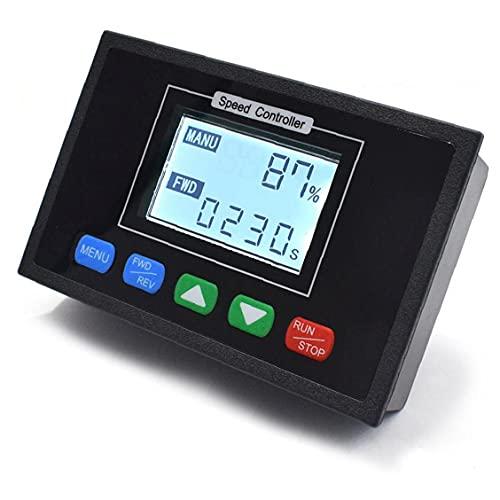 Pantalla Digital 0~100% Controlador de tiempo de controlador de velocidad ajustable DC 12V 24V 36V 48V 40A PWM DC motor reversible con todas las funciones de control Componentes