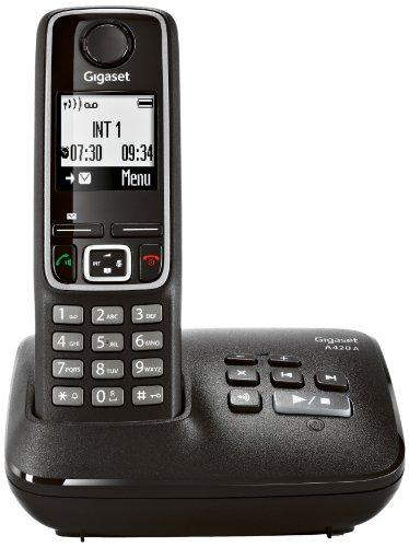 Gigaset A420A Dect-Schnurlostelefon (25 min Aufzeichnungsdauer, mit Anrufbeantworter) schwarz