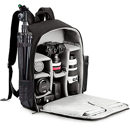 CADeN Camera Backpack Bag with Laptop Compartment 15.6' for DSLR/SLR Mirrorless Camera Waterproof, Camera Case Compatible for Sony Canon Nikon Camera...