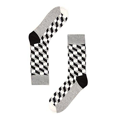 TININNA 1Paire Chaussettes Haute de Treillis Classique Homme Bas de Contention Long Socks Basse Socquettes Elasticité Sport Originales Semelle #6