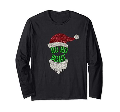 Russland Weihnachten HO HO Blyat Mütze Rot Weihnachtsmann Langarmshirt