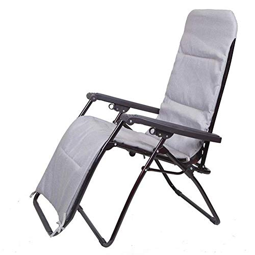 WGFGXQ Portable Zero Gravity Chair Deck Chair Detachable Cushion Adjustable Outdoor Lounge Chair Metal Steel Frame Support 350 lbs
