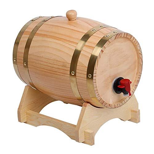 Barril De Vino 3L Madera De Roble Vintage, Dispensador De Barril De Vino De Madera, Barril De Roble De Litros Madera Vintage Barril De Vino De Madera De Roble Para Cerveza Whisky Ron Oporto