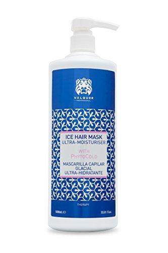 Valquer Premium Mascarilla Capilar efecto hielo Ultrahidratante. Sin sal, sin parabenos, sin sulfatos. Cabellos secos - 1000 ml