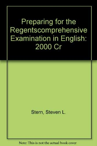 Preparing for the Regentscomprehensive Examination in English: 2000 Cr