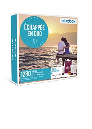 Vivabox - Coffret cadeau couple - ECHAPPÉE EN DUO - 1280 week-ends romantiques +1 kit de voyage