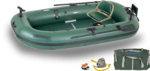 Buy Discount Sea Eagle StealthStalker STS10 Frameless Green Fishing Boat Pro Solo Package for One