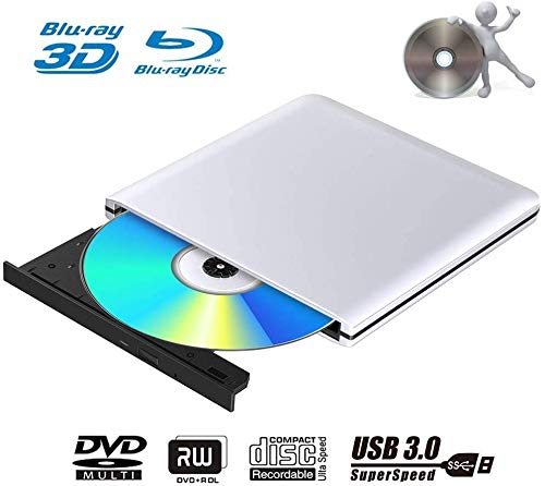 Grabadora de DVD externa 3D Blu Ray, USB 3.0, reproductor portátil ultrafino BD/CD/DVD RW para Windows 10/7/8.1/Vista/XP/Mac OS Linux, PC