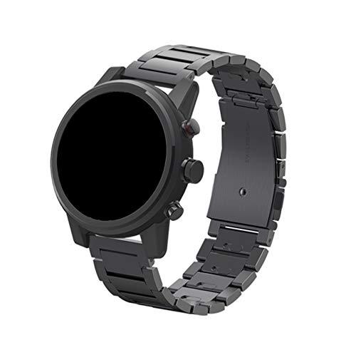 NCCZ Adecuado para Hua Wei Watch GT / GT2 / GT 2PRO, Tira de reemplazo de Acero Inoxidable, Ancho de Correa: 22mm (Color : Black)
