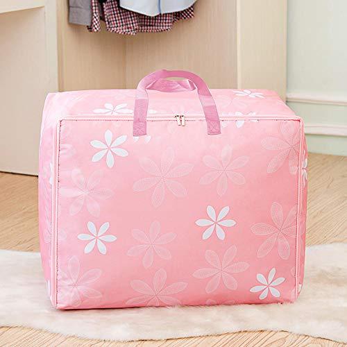 Generic Sac de Rangement pour vêtements Sac à provisions à Bagages Sac de déménagement Sac de Rangement sous Le lit Rangement sous Le lit 50 * 30 * 20cm-Pink_A