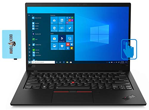 Lenovo ThinkPad X1 Carbon Home and Business Laptop (Intel i7-10610U 4-Core, 16GB RAM, 2TB PCIe SSD, Intel UHD Graphics, 14.0' Touch Full HD (1920x1080), Fingerprint, WiFi, Win 10 Pro) with Hub