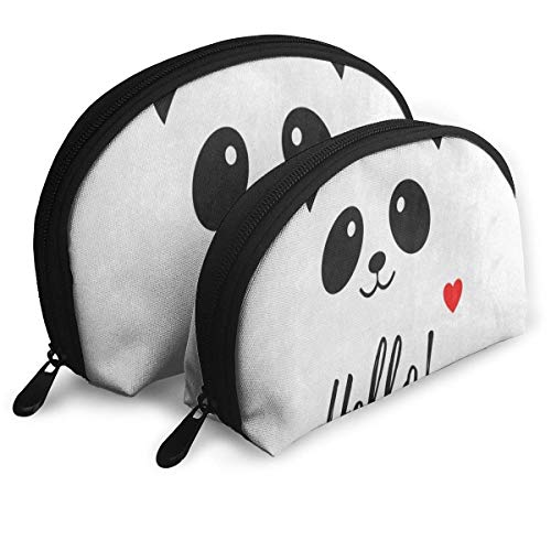 Trousse de maquillage Hello Cute Panda Portable Shell Shell Storage Bag For Girls Thanksgiving Day Gift Pack - 2