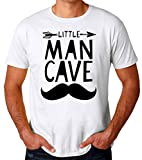 George Graphics Little Man Cave Camiseta para Hombres Small