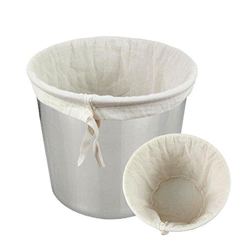 "CONIE Brew Straining in a Bag 12""X16"", Drawstring Food Strainer Filter Bag for Home Brew Nut Milk Juice Yogurt"