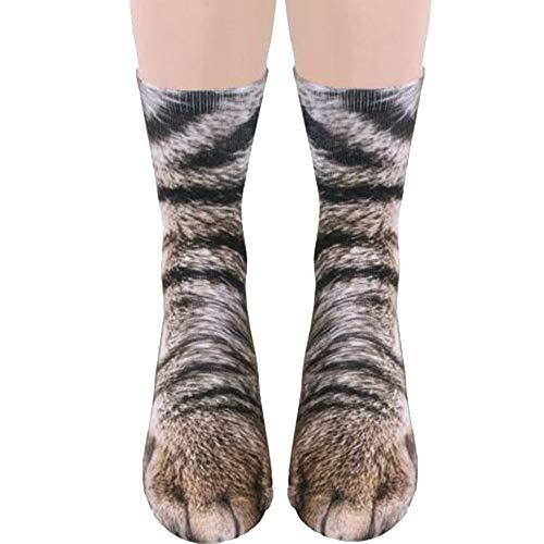 Unisex Adult 3D Print Animal Foot Hoof Socks - Cat