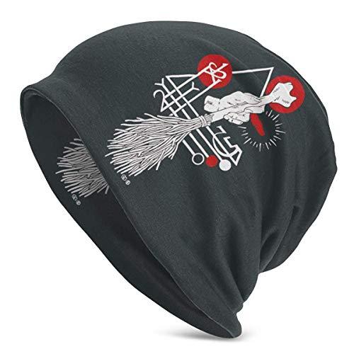 Hdadwy Sombrero de Bruja Oculto Sigil Magia Negra Spellcraft Curse Unisex Adulto Gorro de poliéster Gorra de Invierno Moda al Aire Libre Gorras Calientes