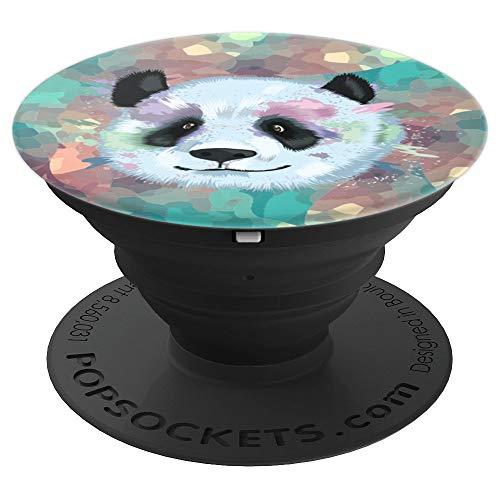 Cute Panda Bear Face Splash Splatter Watercolor Design