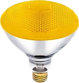 100 Watt, 120 Volt Yellow Flood BR38 Incandescent Bug Light Bulb (Pack of 2)