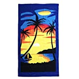 Allgala Oversize 40'x70' Microfiber Beach Towel, Sunset-BT81101