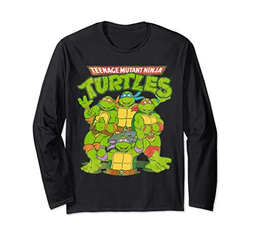 TMNT All Ninja Turtles With Names Long Sleeve T-Shirt