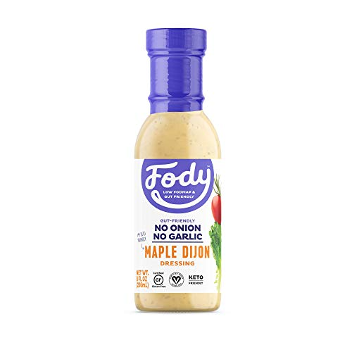 Fody Foods Vegan Maple Dijon Salad Dressing | Low FODMAP Certified | Gut Friendly No Onion No Garlic | IBS Friendly Kitchen Staple | Gluten Free Lactose Free Non GMO