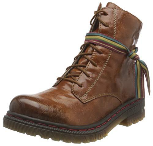 Rieker Damen 76211 Mode-Stiefel, nuss 22, 41 EU