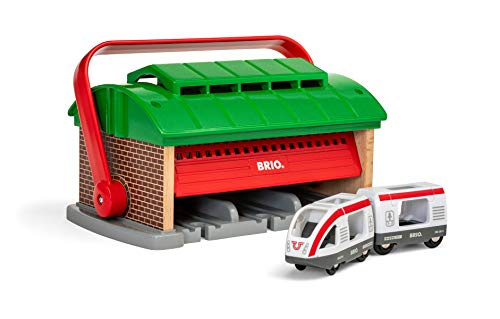 BRIO World - Train Garage with Handle for Kids age 3 years and up compatible with all BRIO train sets
