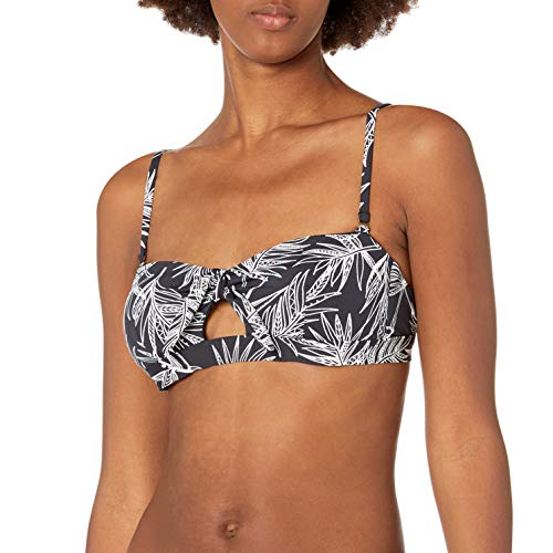 Rip Curl Junior's in The Shade Bandeau Bikini Top Swim Suit, Black, S