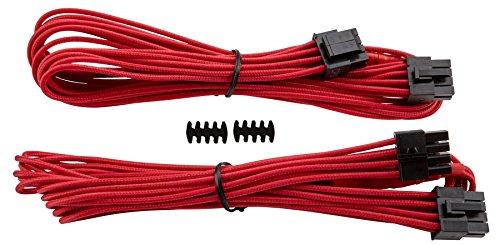Corsair Internal Black Power Cable EPS12V/ATX12V, Male/Male, RMi Series, RMX Series, SF Series, Type 4 PSU, Rosso