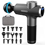Massage Gun Deep Tissue Percussion Muscle Massager,Kelices Handheld Body Back Massager for Athletes with LCD Touch Screen and 15 Massage Heads
