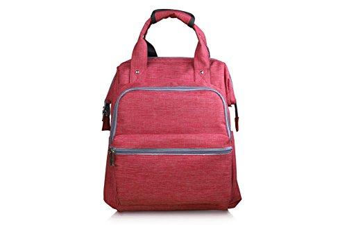Wln80 Mom Sac à dos, décontracté Jour Sac à dos, sac à dos de voyage, DE faire du Shopping Backpack6303 rouge Rosy Red M