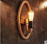 Lampada American Land Cord Navata laterale Balcone Scala Lampada da comodino creativa retrò