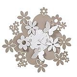 Arti & Mestieri Daisy - Orologio da Parete di Design 100% Made in Italy - in Ferro, Diametro 40 cm - Sabbia e Bianco Marmo