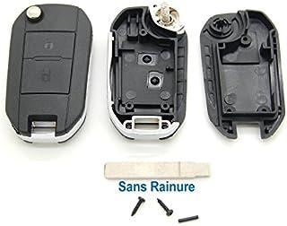 Peugeot - Carcasa con mando a distancia para llave compatible con Peugeot 107, 207,