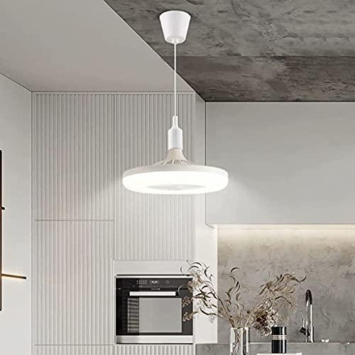 E27 Plafoniera Con Ventilatore Ventilatore Da Soffitto Moderno Con Illuminazione Silenzioso Ventilatore Da Soffitto 24W Per Camera Da Letto Cucina Ristorante Studio Lampada Ventilatore (Chandelier)