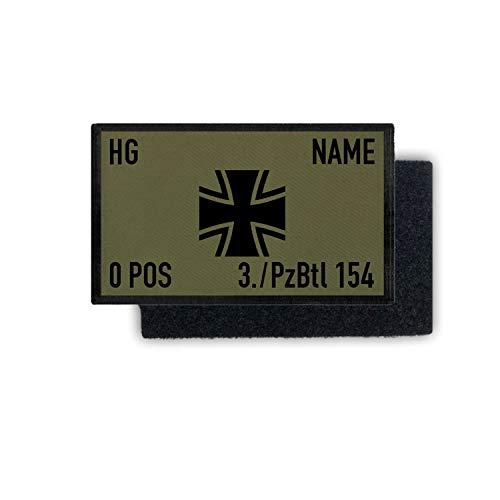 Copytec Rank Patch 9,8x6cm Bundeswehr Dienstgrad Name Einheit Blutgruppe #35397, Farbe:Oliv