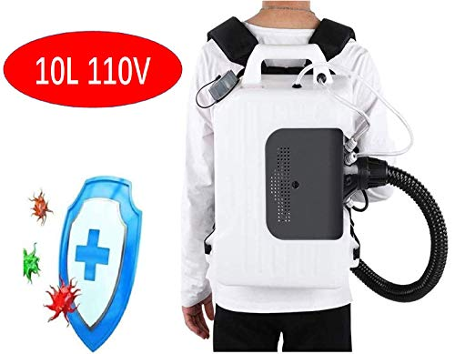 E-BEST CARE Electric Backpack Fogger Disinfectant Machine 10L Improved Adjustable Agricultural Backpack ULV Cold Fog Sprayer for Hospital, Station, School, Restaurant, Garden, Home Cleaning