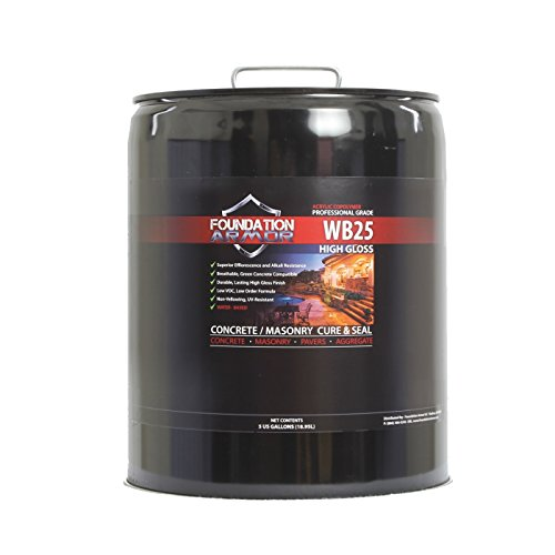 Armor WB25 Water Based High Gloss Acrylic Concrete Cure and Seal